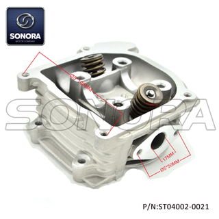 139QMAB 40mm Cylinder head with 69MM valve without EGR (P/N: ST04002-0021) Top Quality