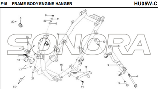 F15 FRAME BODY-ENGINE HANGER for HU05W-C MIO 50 Spare Part Top Quality