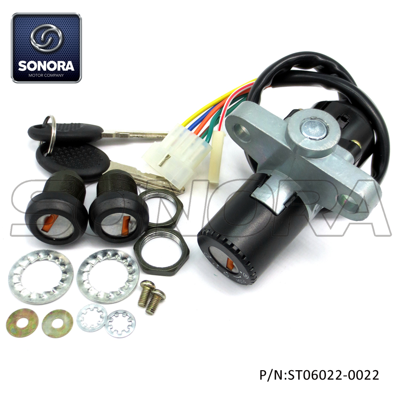 Derbi Senda 5 Wires Lock Set (P/N:ST06022-0022) Top Quality
