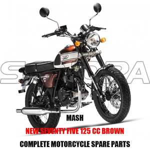 MASH NEW SEVENTY FIVE 125 CC BROWN BODY KIT ENGINE PARTS ORIGINAL SPARE PARTS