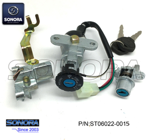 QINGQI QM125-2V Lock Set (P/N:ST06022-0015) Top Quality