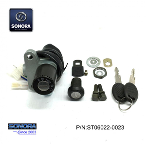 Derbi Senda 3 Wires Lock Set (P/N:ST06022-0023) Top Quality